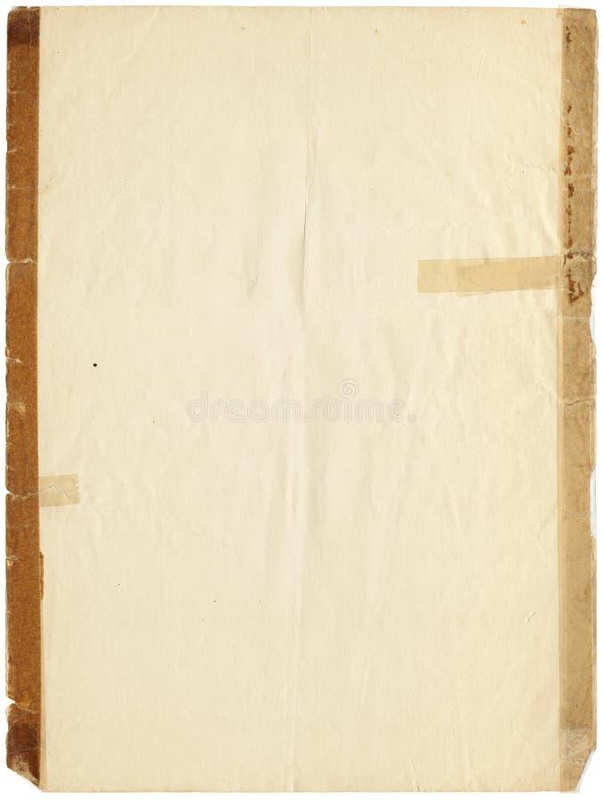 Altes auf Band aufgenommenes Papier lizenzfreie stockfotografie