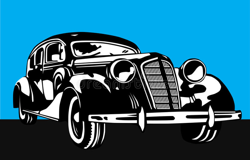 Altes Auto lizenzfreie abbildung