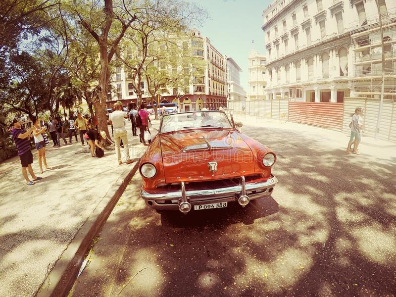 Altes Auto Kubas lizenzfreie stockfotografie