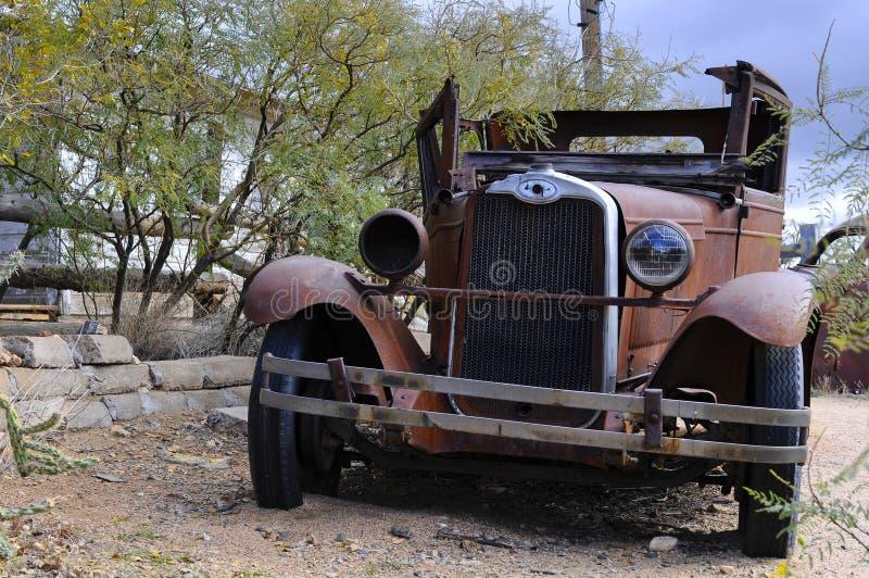 Altes Autowrack stockfotografie