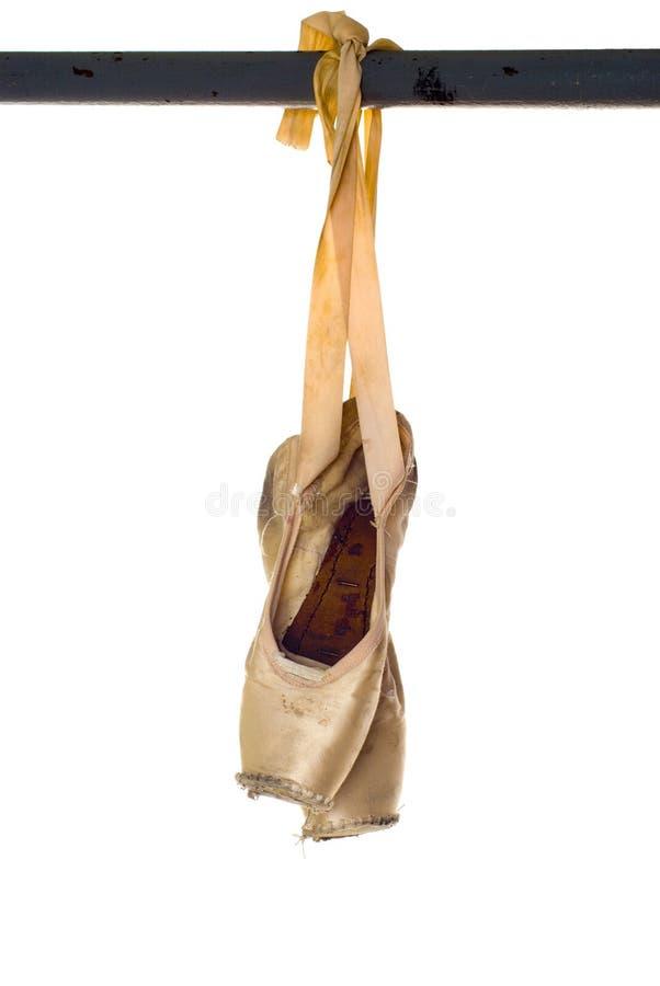 Altes Ballett pointe stockfotos
