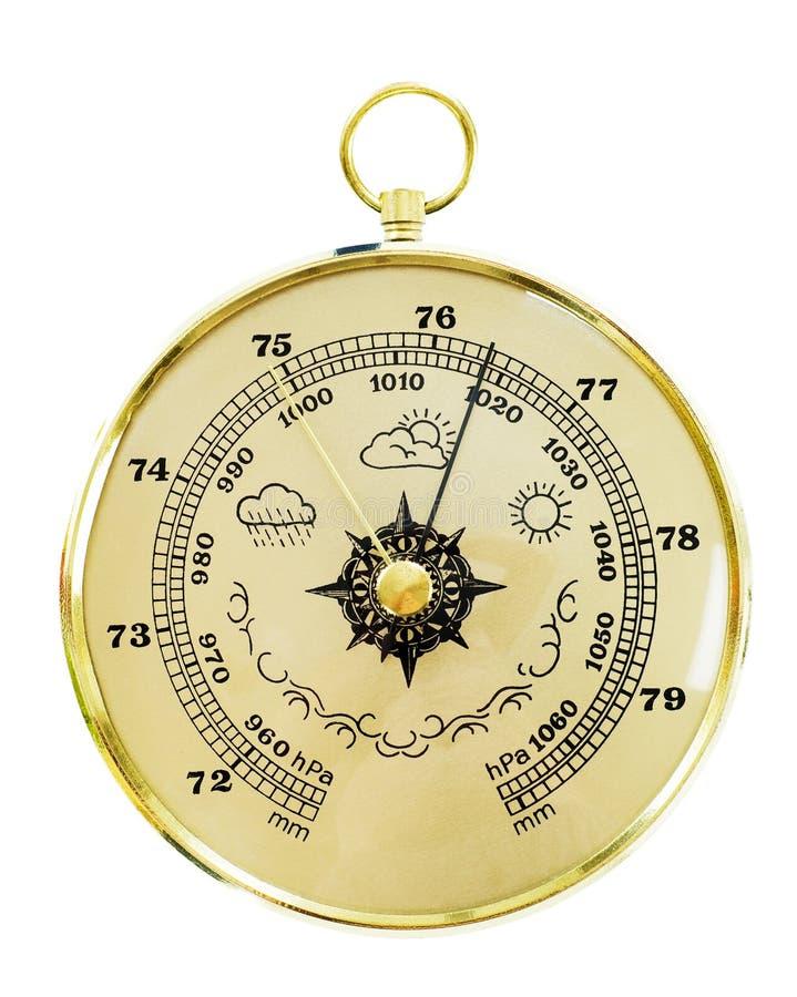 Altes Barometer lizenzfreies stockbild