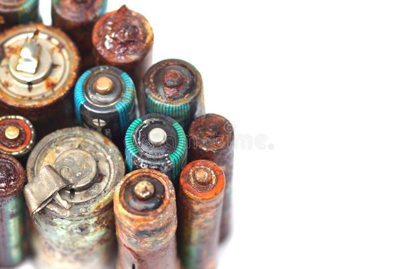 Altes Batterieleck stockfotografie