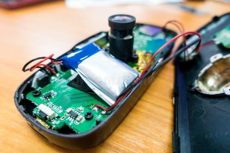 Altes Batterieschwellen stockbild