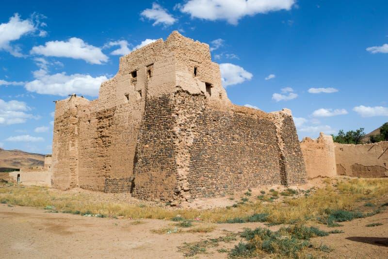 Altes Berberschloss in Süd-Marokko stockfotografie