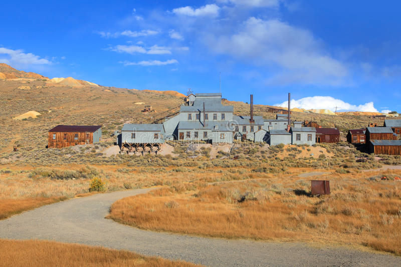 Altes Bergwerk in Bodie, Kalifornien lizenzfreie stockbilder