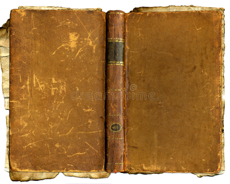 Altes braunes zerschlagenes Buch lizenzfreie stockfotos
