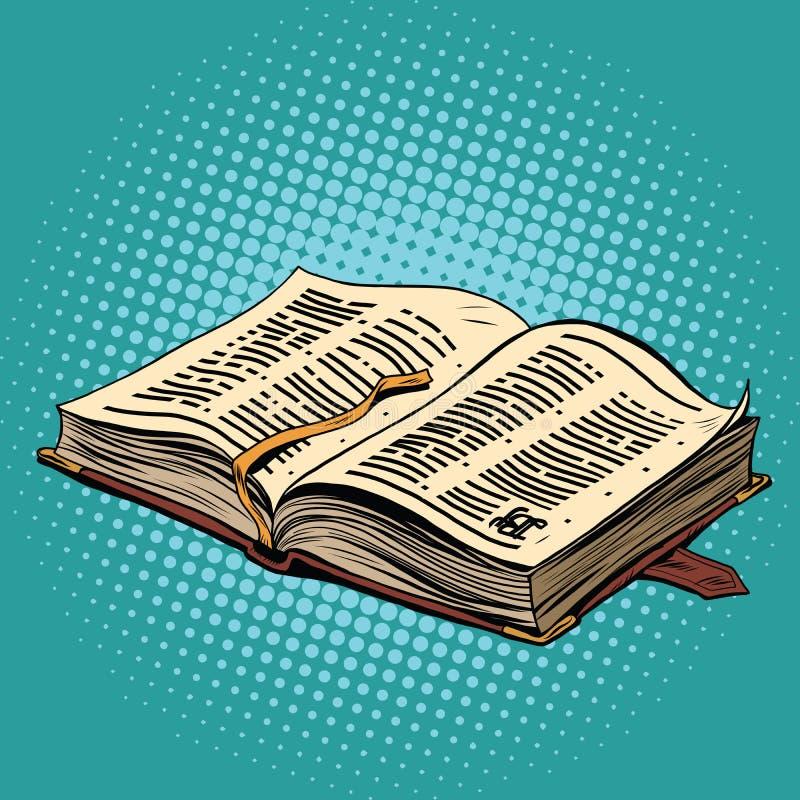 Altes Buch im Ledereinband Die Bibel und die Religion lizenzfreie abbildung