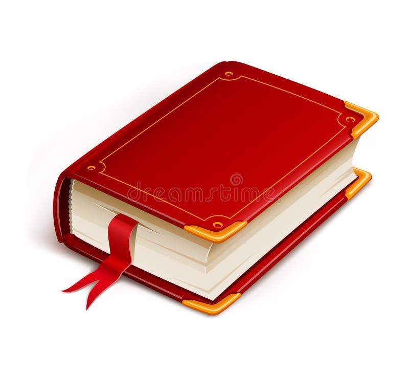 Altes Buch mit Bookmark vektor abbildung