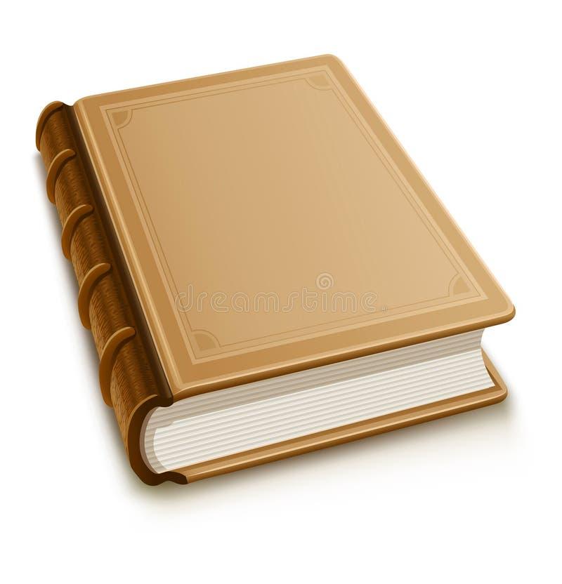 Altes Buch mit unbelegter Abdeckung vektor abbildung