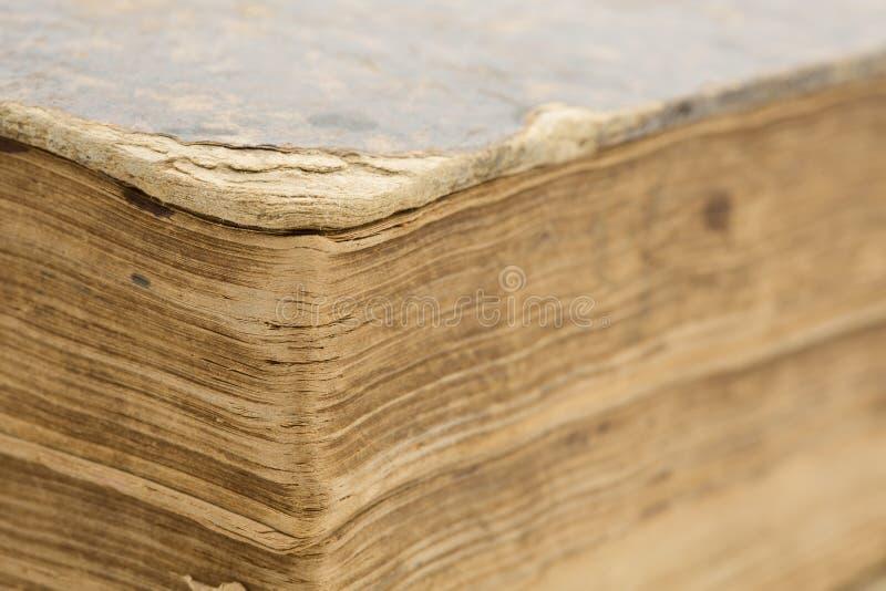 Altes Buch - Seitennahaufnahme lizenzfreie stockfotografie