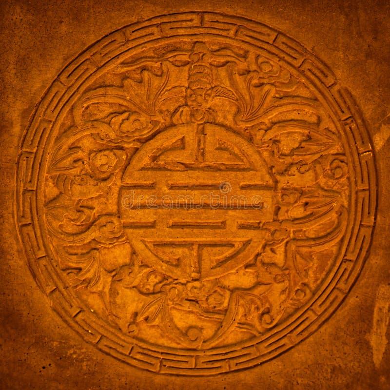 Altes Chinese-Schnitzen lizenzfreie stockbilder