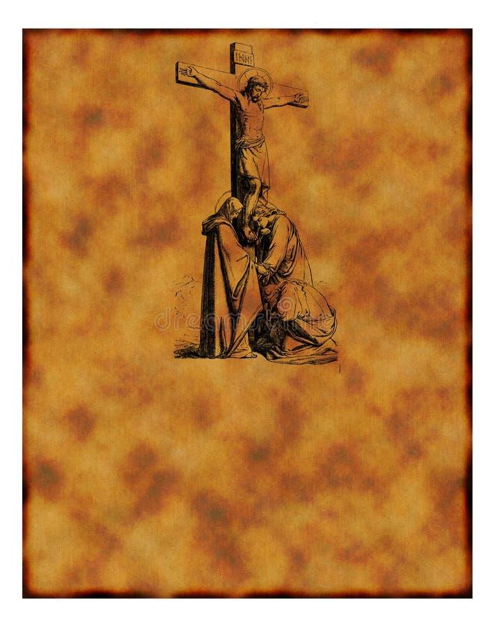 Altes christliches Pergament stockfoto