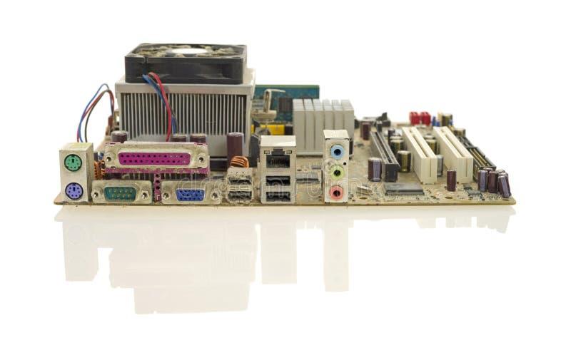 Altes Computermotherboard lizenzfreie stockbilder