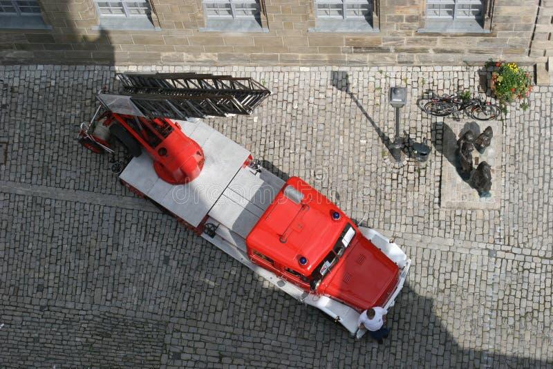 Altes deutsches Feuerwehrauto lizenzfreies stockbild