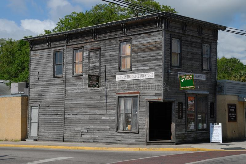 Altes Drugstore Str. Augustine Florida stockfotografie
