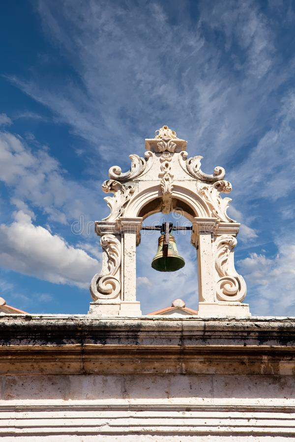 Altes Dubrovnik Bell lizenzfreie stockfotografie