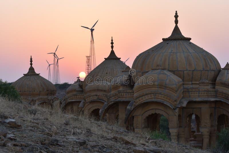 Altes Ehrengrabmal in bada baag Jaisalmer Rajasthan Indien lizenzfreie stockfotografie