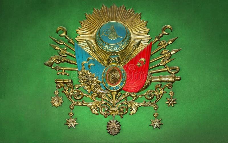 Altes Emblem-altes türkisches Symbol des Osmanischen Reichs stockfotografie
