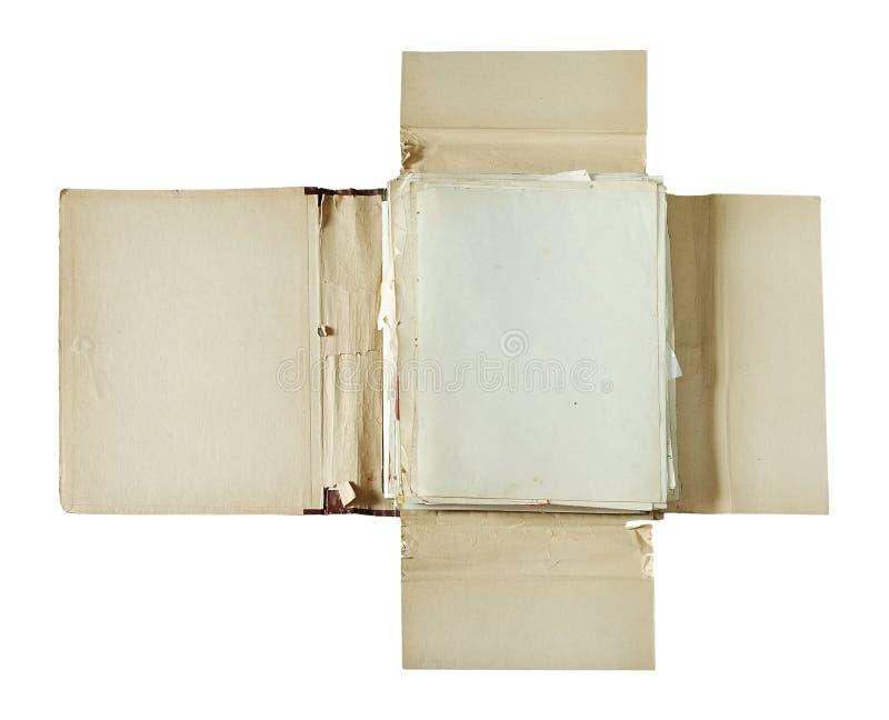 Altes Faltblatt lizenzfreies stockfoto