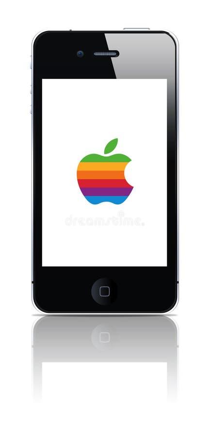 Altes farbiges Zeichen des Iphone Whit lizenzfreie abbildung