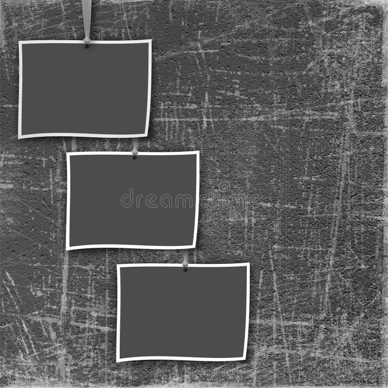Altes Feld drei auf dem grunge Kratzerhintergrund vektor abbildung