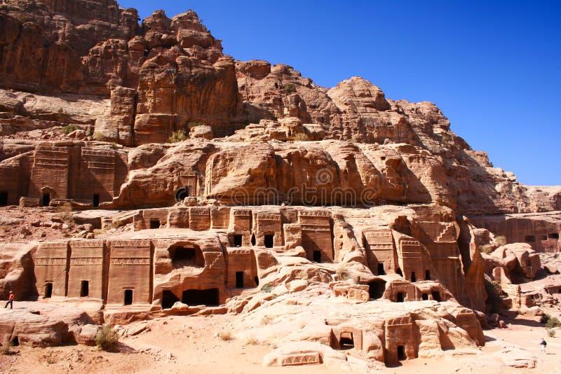 Altes Felsenstadt PETRA in Jordanien lizenzfreies stockfoto
