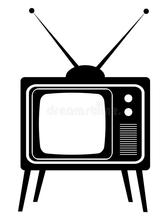 Altes Fernsehen lizenzfreie abbildung