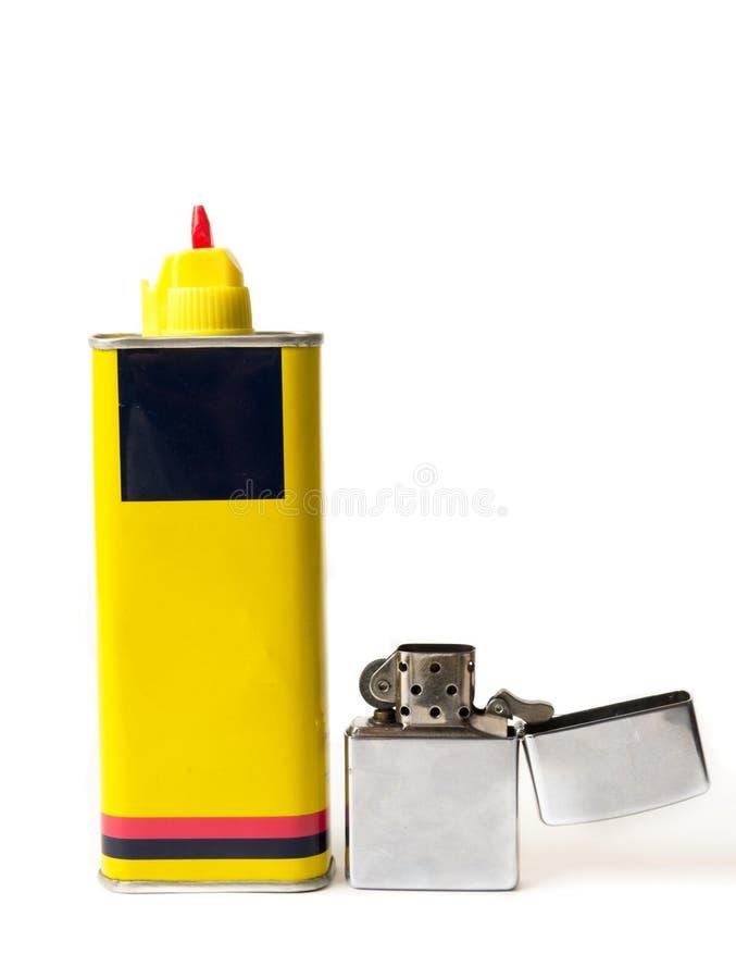 Altes Feuerzeug mit Brennstoffnachf?llung lizenzfreies stockfoto