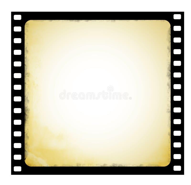 Altes Filmfeld in der grunge Art stock abbildung