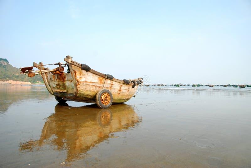 Altes Fischboot stockfoto
