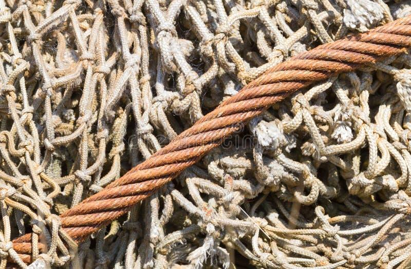 Altes Fischernetz stockfotos