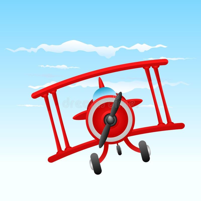Altes Flugzeug der Karikatur stock abbildung