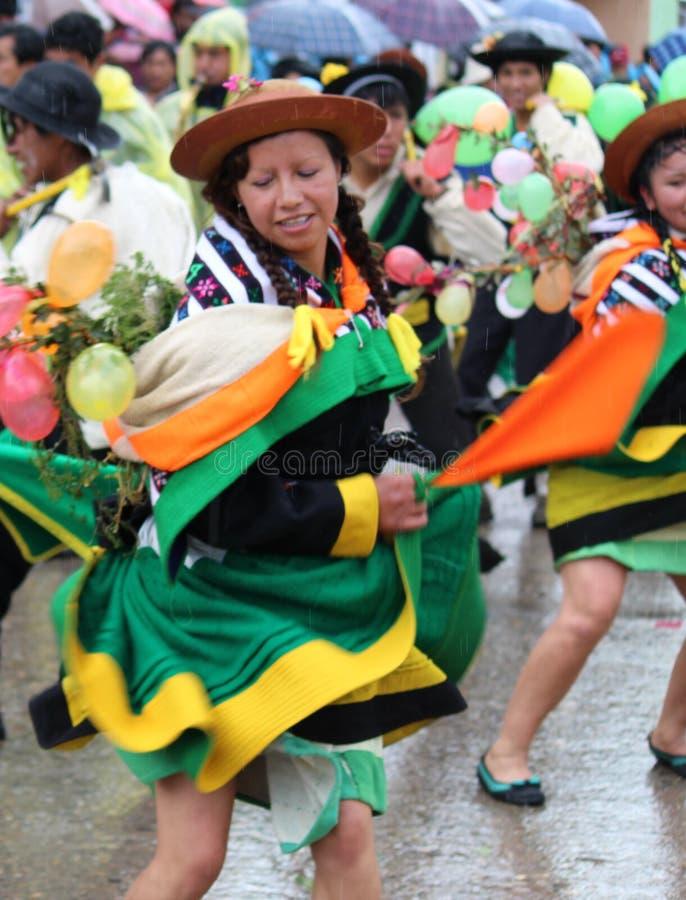 Altes folklorisches Tanz huaylash lizenzfreies stockfoto