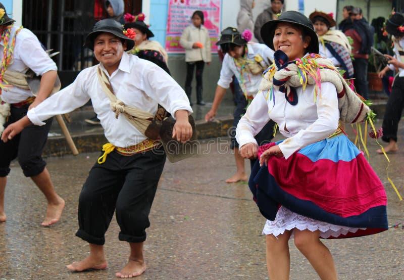 Altes folklorisches Tanz huaylash lizenzfreies stockbild