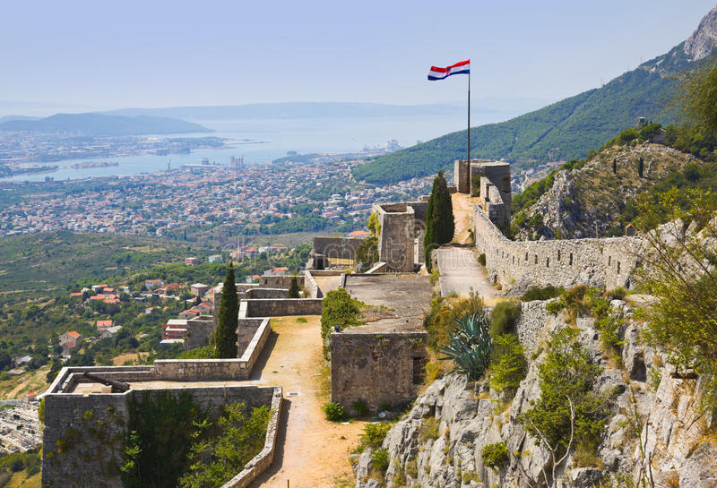 Altes Fort in der Spalte, Kroatien lizenzfreies stockfoto