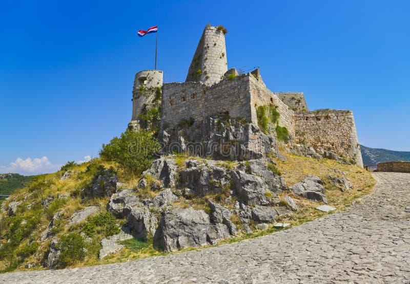 Altes Fort in Klis, Kroatien stockfoto