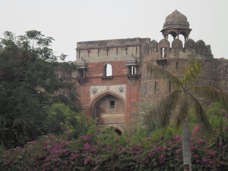 Altes Fort Neu-Delhi stockfotos