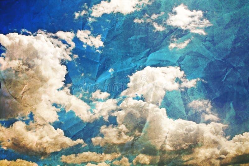 Altes Foto des Himmels stockfoto