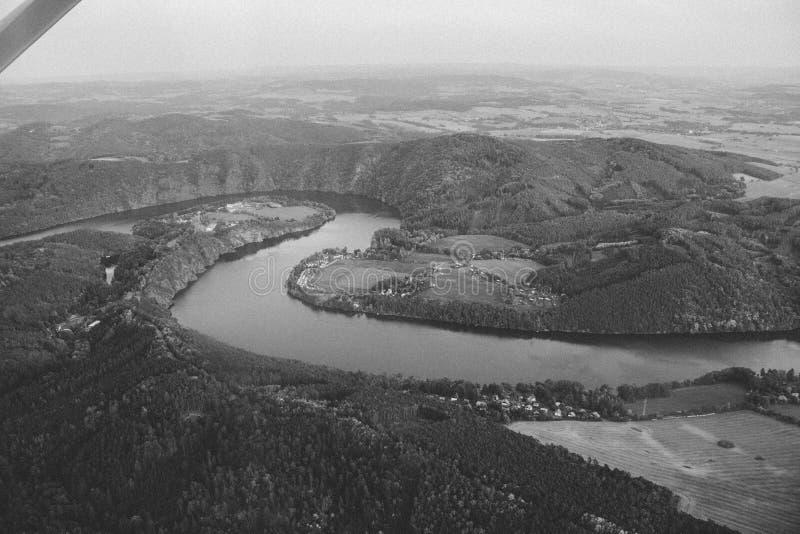 Altes Foto von Fluss stockfoto