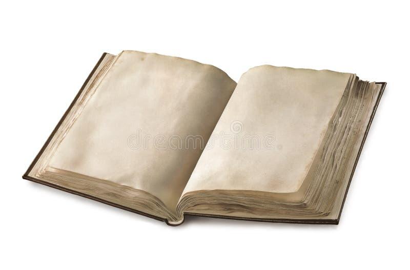 Altes geöffnetes Buch lizenzfreie stockbilder