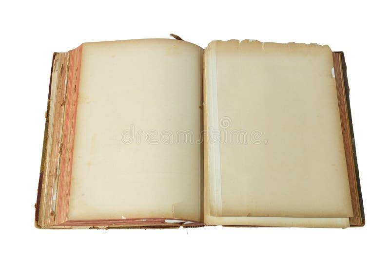 Altes geöffnetes Buch stockfotografie