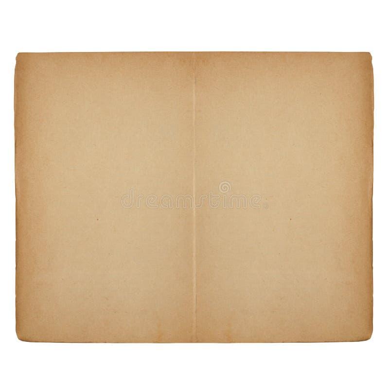 Altes geöffnetes Buch mit Leerseiten stockbilder