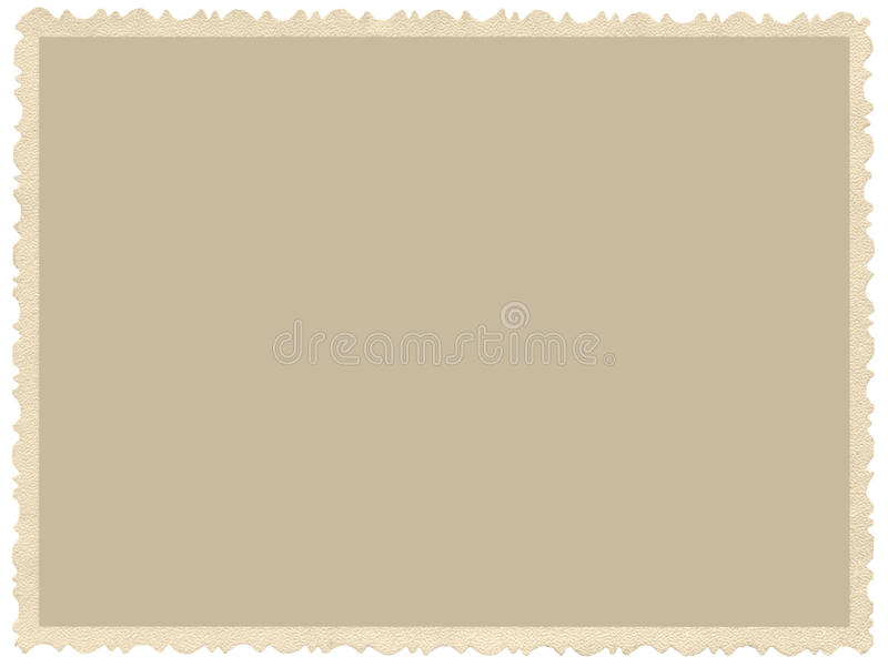 Altes gealtertes Schmutzrand Sepiafoto, leerer leerer horizontaler Hintergrund, lokalisierter gelber beige Weinlesephotographiebi stockfotos