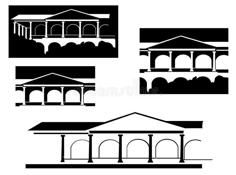 Download Altes Gebäude vektor abbildung. Illustration von kultur - 12201360
