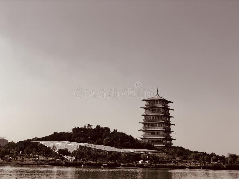 Altes Gebäude der CHINESISCHEN ARCHITEKTUR; Erbgebäude lizenzfreies stockbild