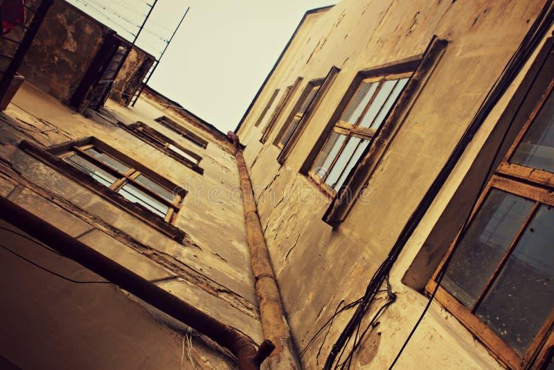 Altes Gebäude geschichte nachschlagen retro ukraine Architektur stockfotos