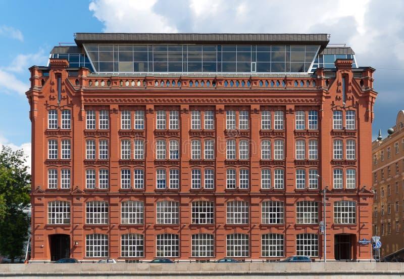 Altes Gebäude von den roten Ziegelsteinen lizenzfreies stockfoto