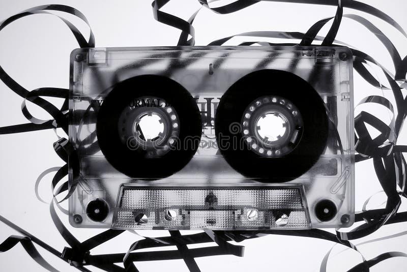 Altes gebrochenes Band cassete lizenzfreie stockbilder