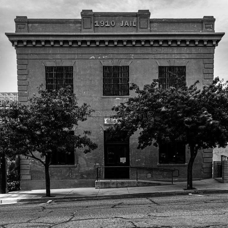 Altes Gefängnis in Globe Arizona lizenzfreie stockfotografie